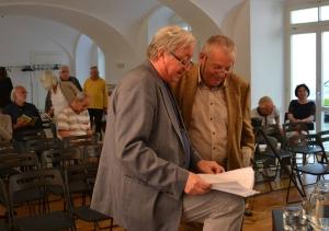 Karel Hvížďala a Jiří Lábus
